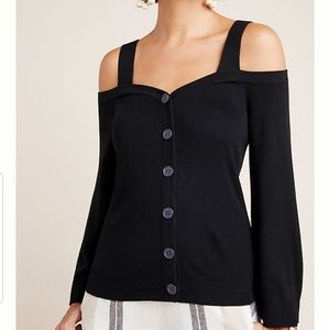 by Anthropologie Krissy Open-Shoulder Cardigan